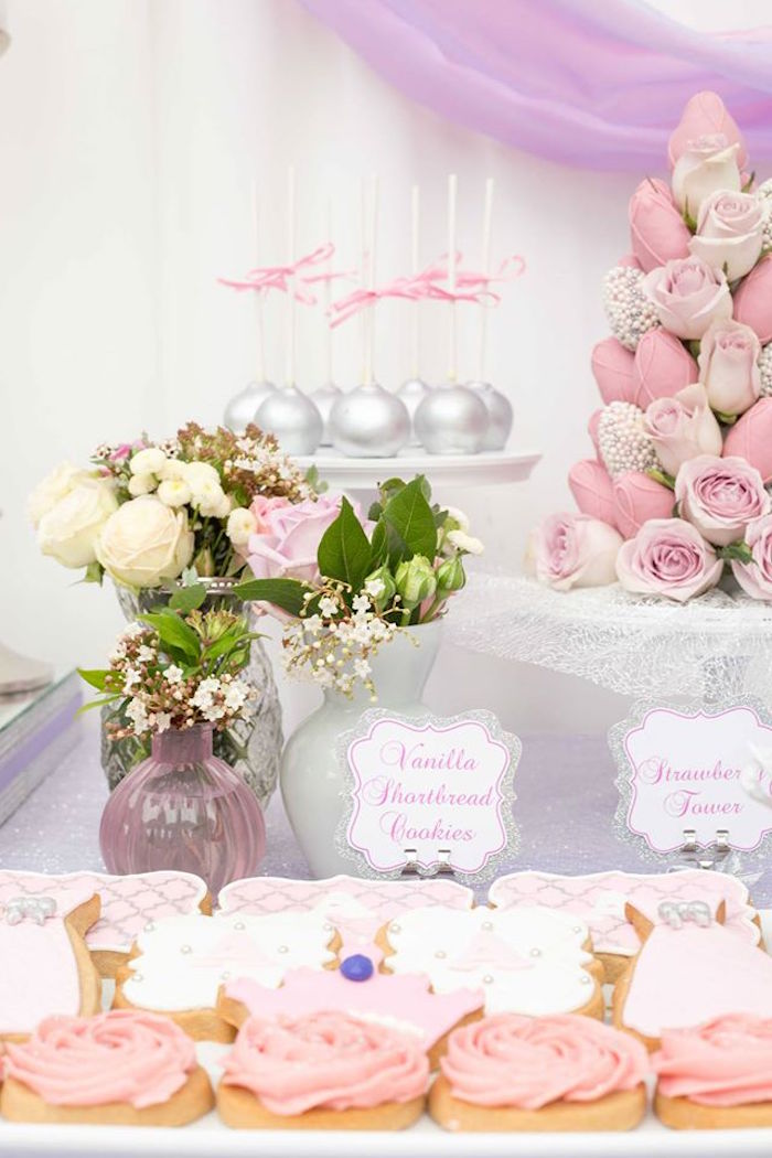 Cookies, cake pops, flowers and more from an Elegant Purple Princess Birthday Party on Kara's Party Ideas | KarasPartyIdeas.com (14)