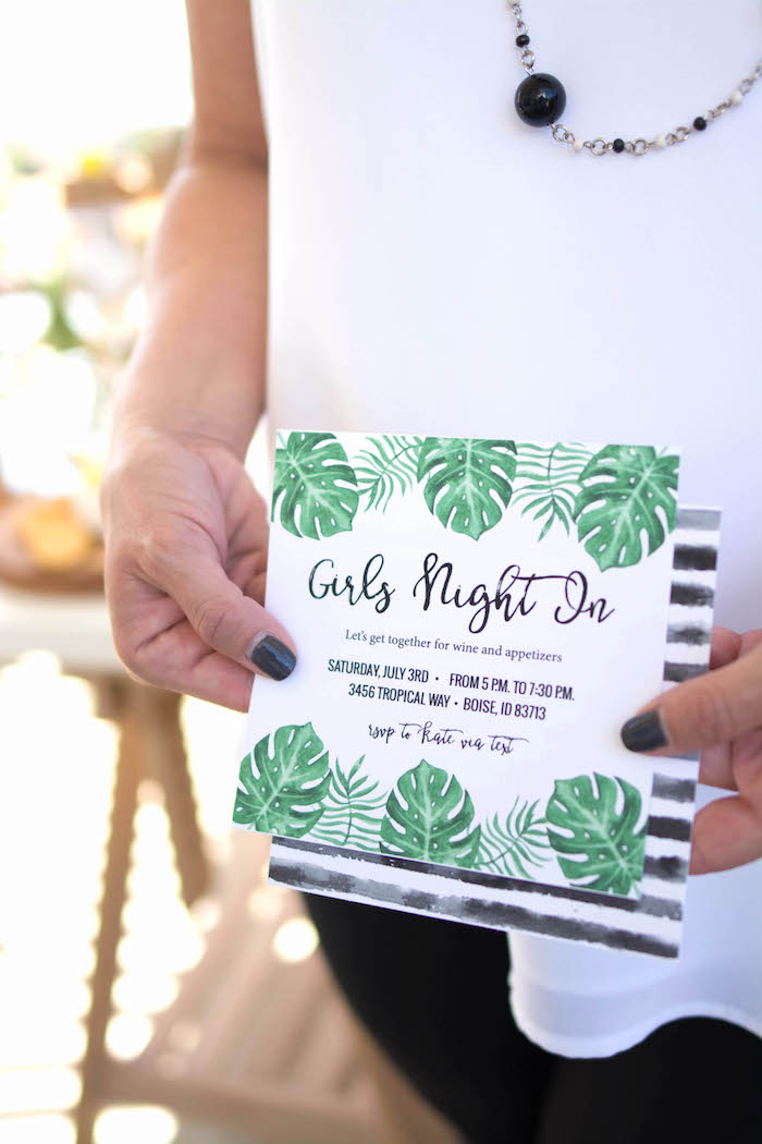Invitation from an End of Summer Pineapple Themed Girls Night Party on Kara's Party Ideas | KarasPartyIdeas.com (6)