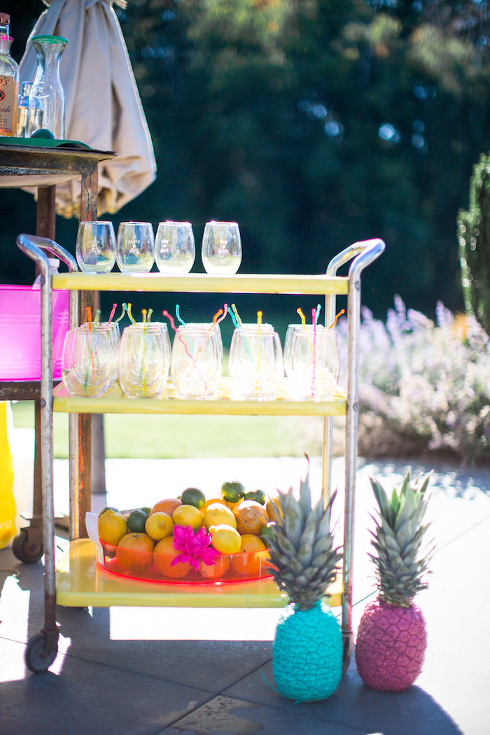 Drink cart from a Favorite Things Summer Party on Kara's Party Ideas | KarasPartyIdeas.com (92)