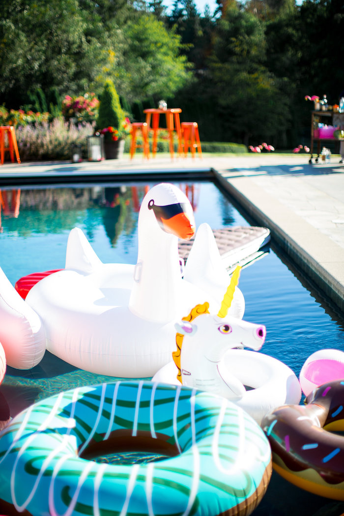 Pool floats from a Favorite Things Summer Party on Kara's Party Ideas | KarasPartyIdeas.com (65)