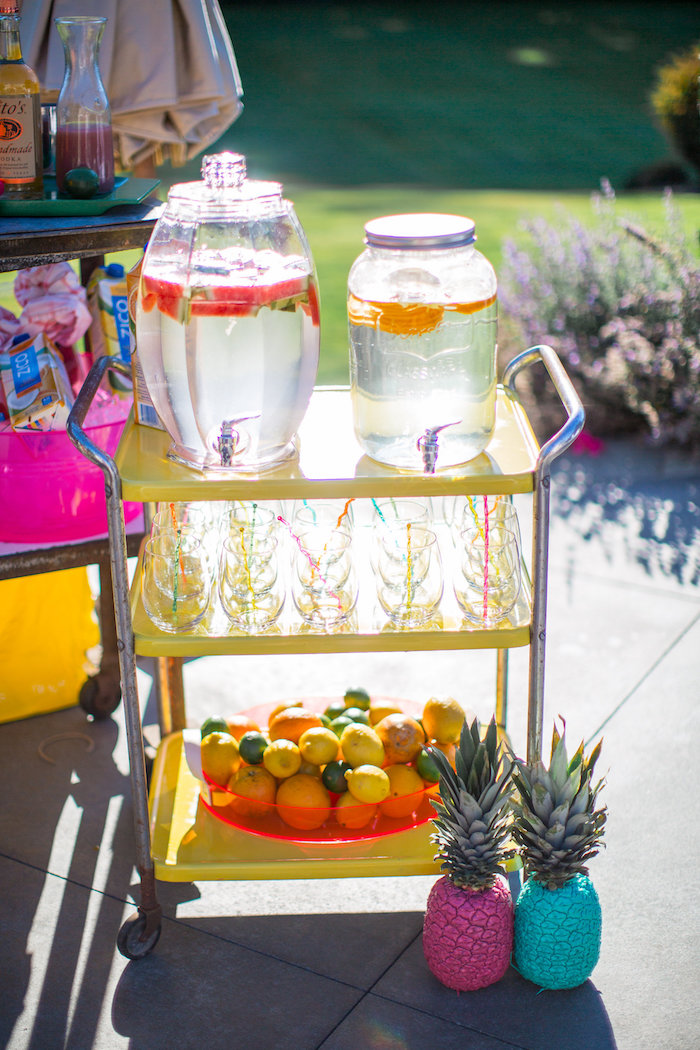 Drink cart from a Favorite Things Summer Party on Kara's Party Ideas | KarasPartyIdeas.com (55)