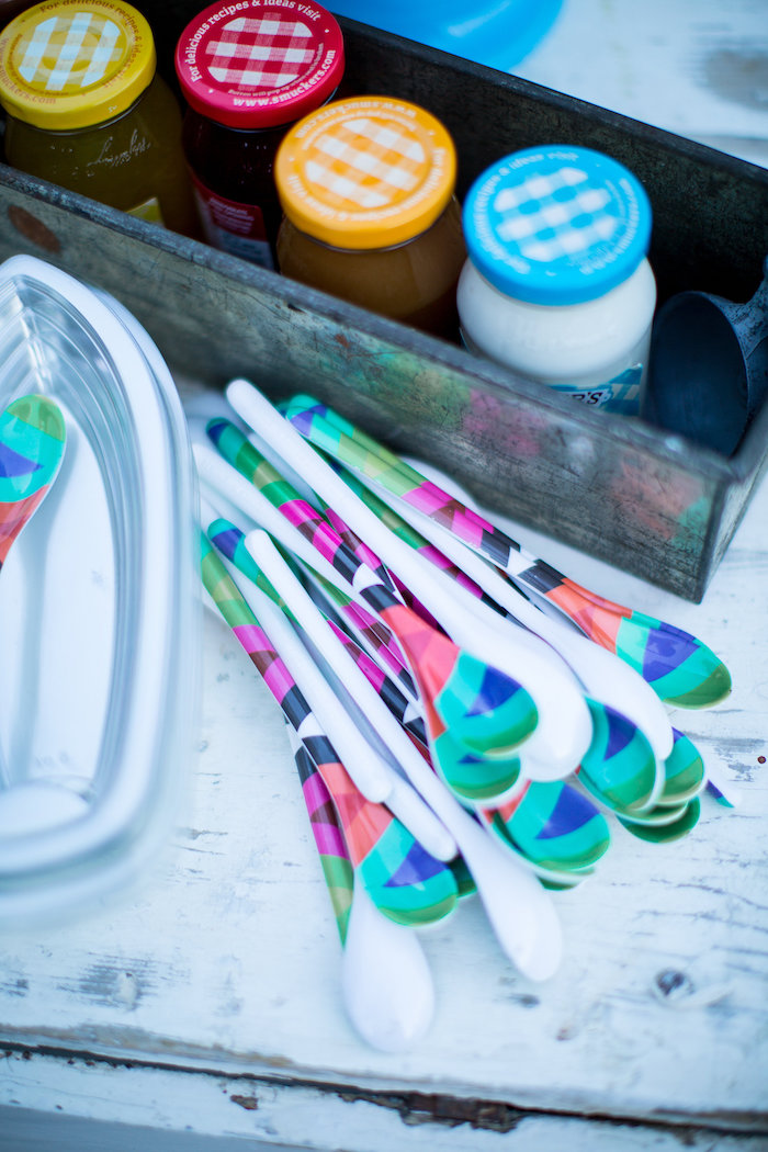 Funky spoons from a Favorite Things Summer Party on Kara's Party Ideas | KarasPartyIdeas.com (31)