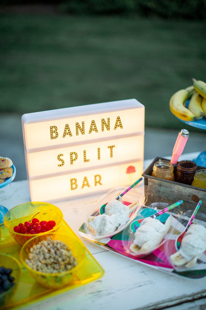 Light Sign from a Favorite Things Summer Party on Kara's Party Ideas | KarasPartyIdeas.com (18)