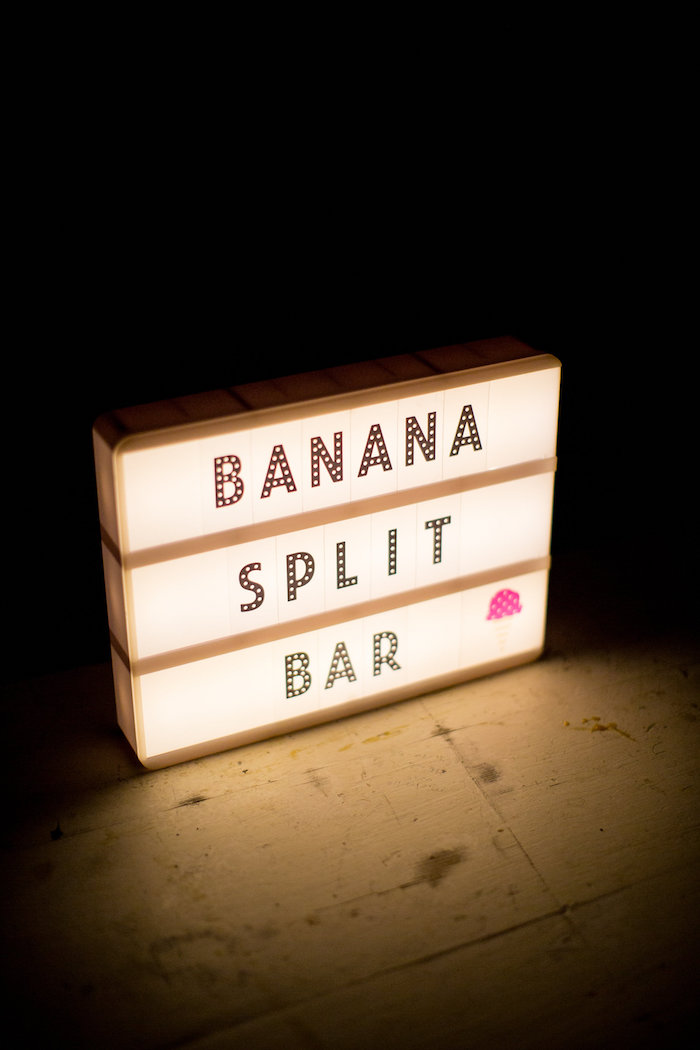 Light sign from a Favorite Things Summer Party on Kara's Party Ideas | KarasPartyIdeas.com (5)