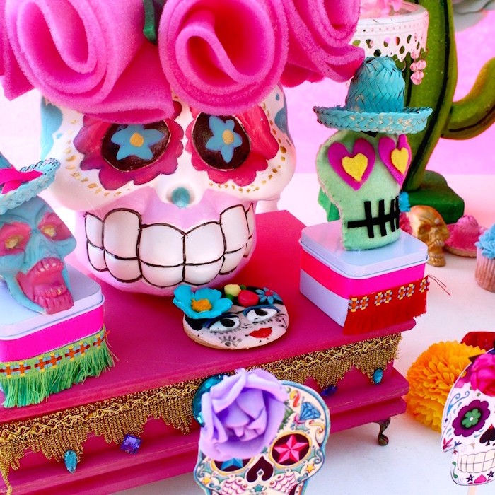 Day of the Dead decor and favors from a Frida Kahlo Day of the Dead Inspired Fiesta on Kara's Party Ideas | KarasPartyIdeas.com (10)