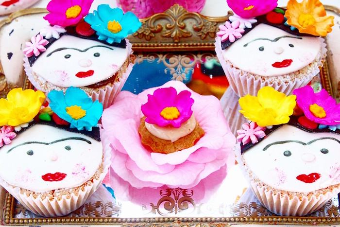Muffins + cupcakes from a Frida Kahlo Day of the Dead Inspired Fiesta on Kara's Party Ideas | KarasPartyIdeas.com (7)