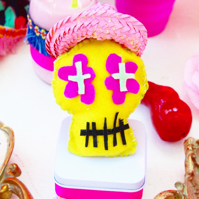 Day of the Dead favor box from a Frida Kahlo Day of the Dead Inspired Fiesta on Kara's Party Ideas | KarasPartyIdeas.com (6)