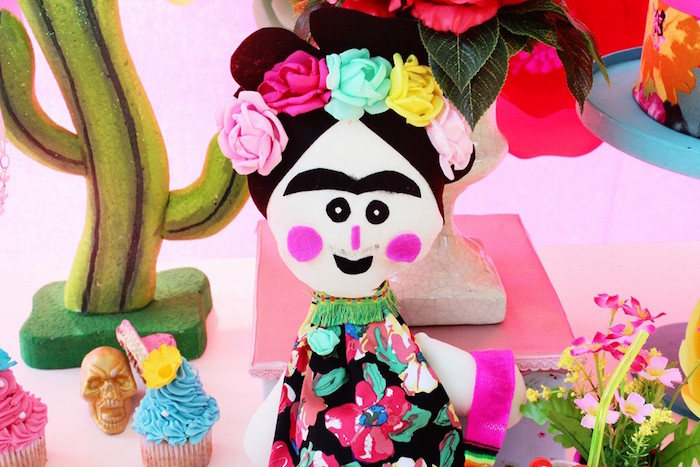 Frida Kahlo doll from a Frida Kahlo Day of the Dead Inspired Fiesta on Kara's Party Ideas | KarasPartyIdeas.com (5)