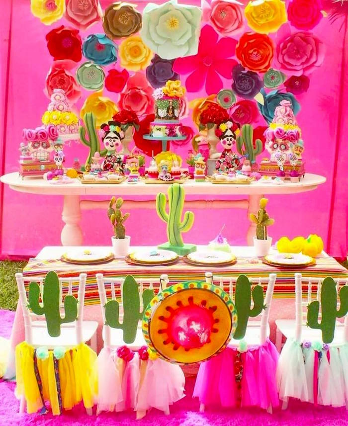 Karas Party Ideas Frida Kahlo Day of the Dead Inspired Fiesta