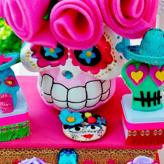 Day of the Dead decor + favor boxes from a Frida Kahlo Day of the Dead Inspired Fiesta on Kara's Party Ideas | KarasPartyIdeas.com (20)