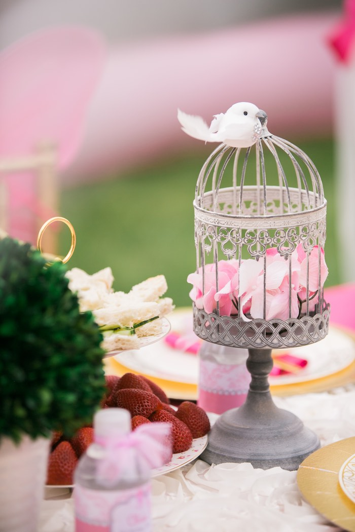 Bird cage from a Garden Tea Party on Kara's Party Ideas | KarasPartyIdeas.com (21)