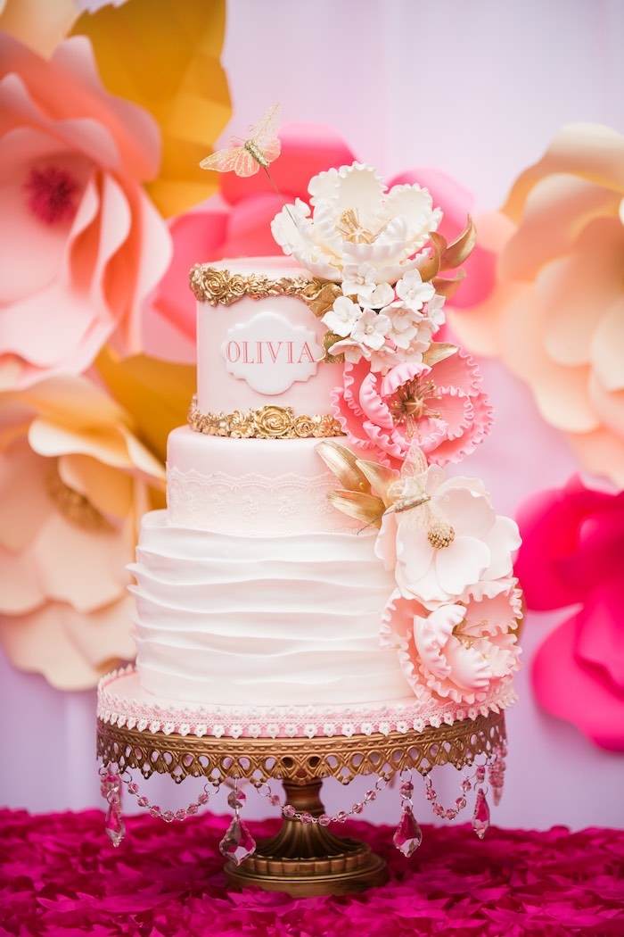 Kara's Party Ideas Pink & Gold Garden Tea Party | Kara's ...