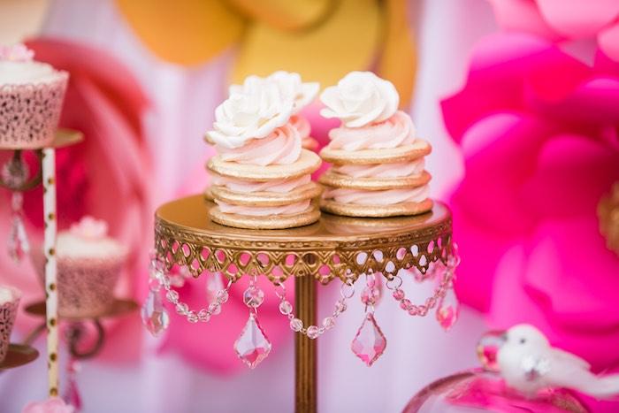 Stacked cookie cakes from a Garden Tea Party on Kara's Party Ideas   KarasPartyIdeas.com (18)