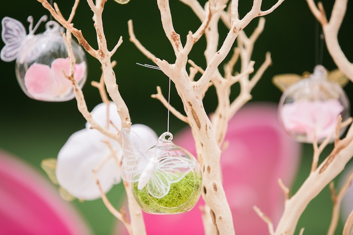 Garden bulbs + ornaments from a Garden Tea Party on Kara's Party Ideas | KarasPartyIdeas.com (15)