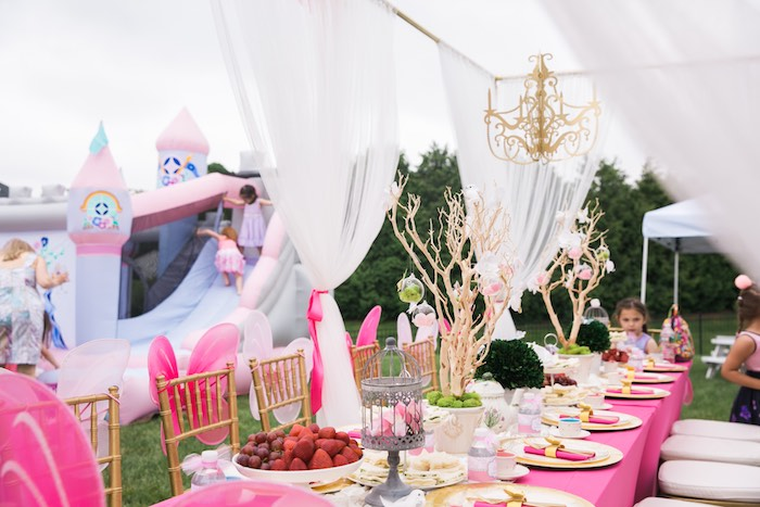 Kara S Party Ideas Pink Amp Gold Garden Tea Party Kara S