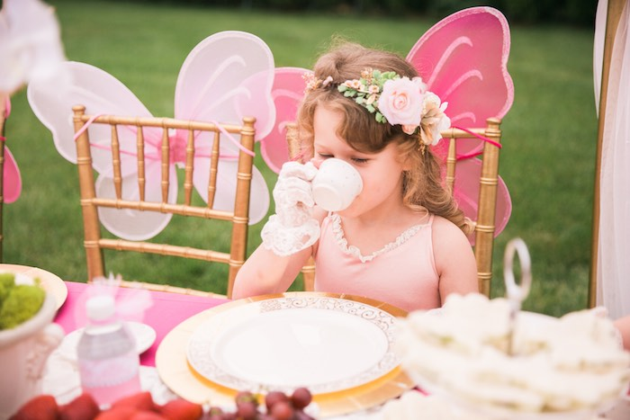 Tea time from a Garden Tea Party on Kara's Party Ideas | KarasPartyIdeas.com (31)