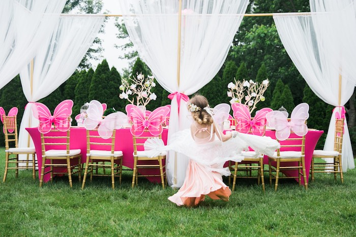 Kara S Party Ideas Pink Amp Gold Garden Tea Party Kara S