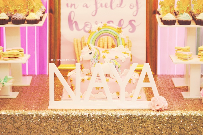 Kara S Party Ideas Glittery Unicorn Welcome Baby Party