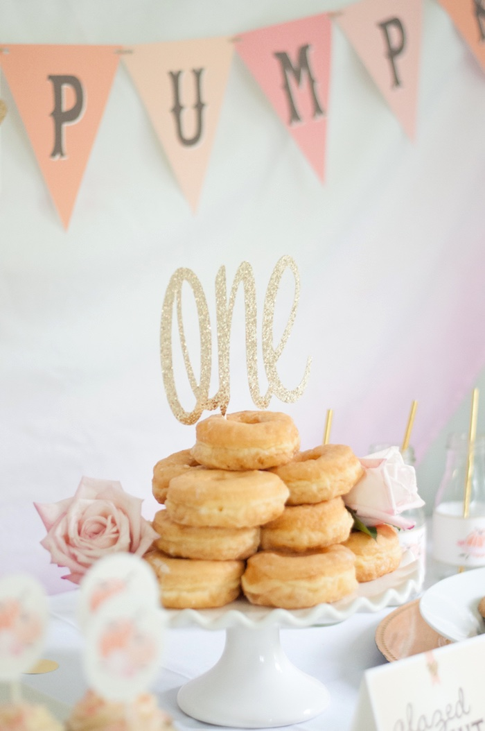 Gold + Glitter Our Little Pumpkin Birthday Party on Kara's Party Ideas | KarasPartyIdeas.com (13)