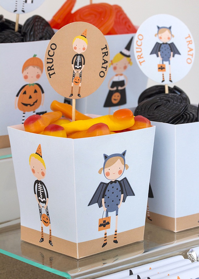 Candy boxes from a Halloween Party for Kids on Kara's Party Ideas | KarasPartyIdeas.com (8)
