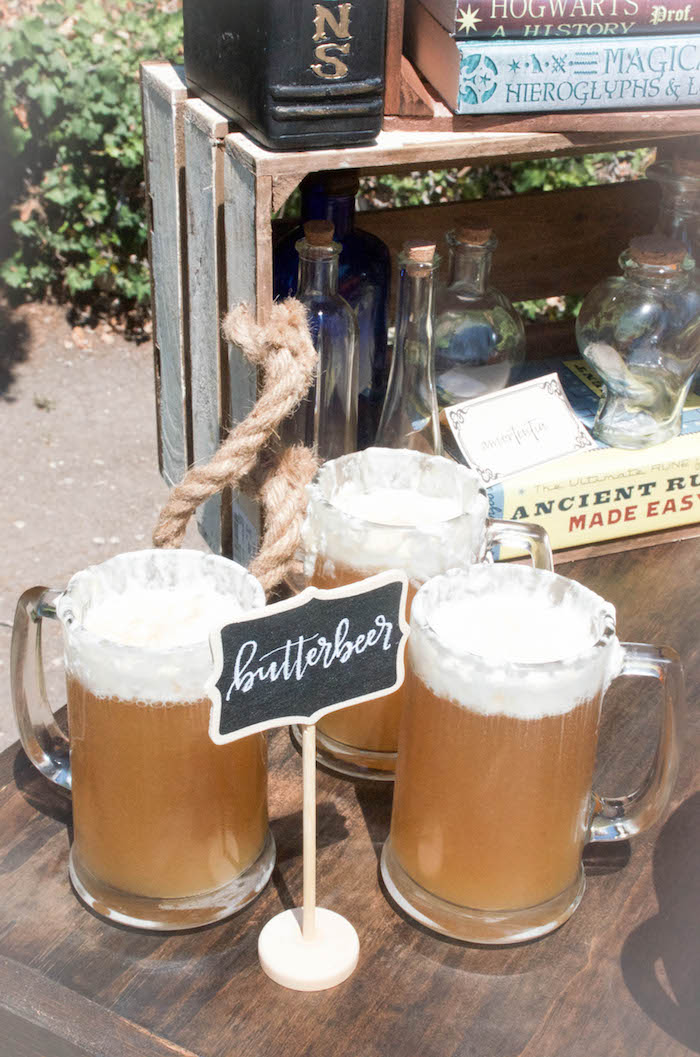 Butterbeer from a Harry Potter Birthday Party on Kara's Party Ideas | KarasPartyIdeas.com (21)