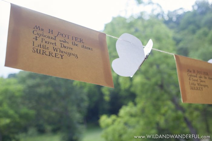 Parcel bunting from a Harry Potter Birthday Party on Kara's Party Ideas | KarasPartyIdeas.com (29)