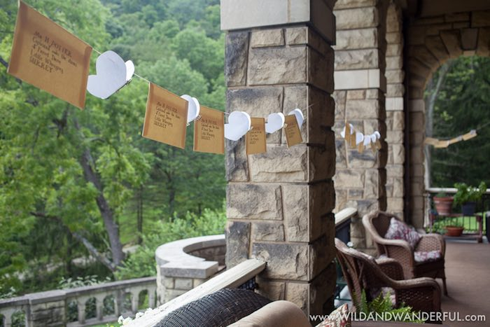 Parcel bunting from a Harry Potter Birthday Party on Kara's Party Ideas | KarasPartyIdeas.com (28)