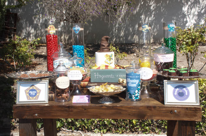 Harry Potter dessert table from a Harry Potter Birthday Party on Kara's Party Ideas | KarasPartyIdeas.com (17)