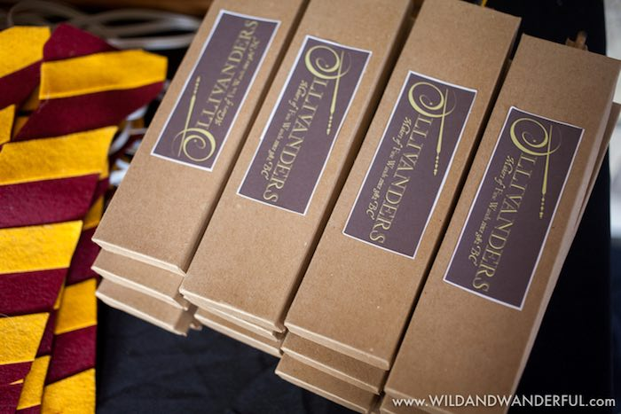 Ollivander's Wizard Wands from a Harry Potter Birthday Party on Kara's Party Ideas | KarasPartyIdeas.com (21)