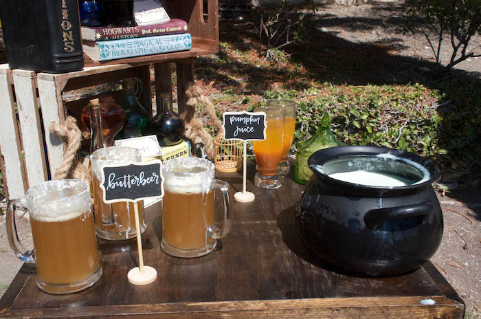 Beverage table from a Harry Potter Birthday Party on Kara's Party Ideas | KarasPartyIdeas.com (7)