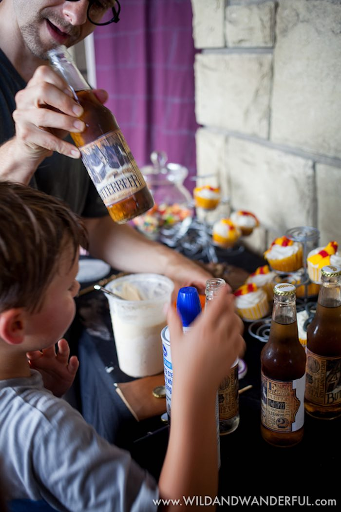 Butterbeer Bar from a Harry Potter Birthday Party on Kara's Party Ideas | KarasPartyIdeas.com (12)