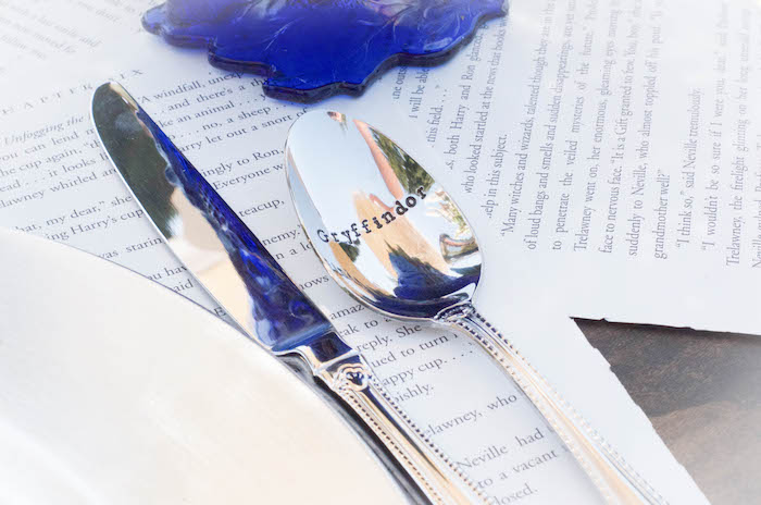 Spoon engraved with Harry Potter house from a Harry Potter Birthday Party on Kara's Party Ideas | KarasPartyIdeas.com (30)