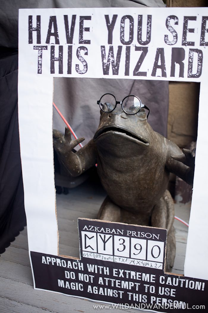 Have You Seen This Wizard Photo Frame from a Harry Potter Birthday Party on Kara's Party Ideas | KarasPartyIdeas.com (4)