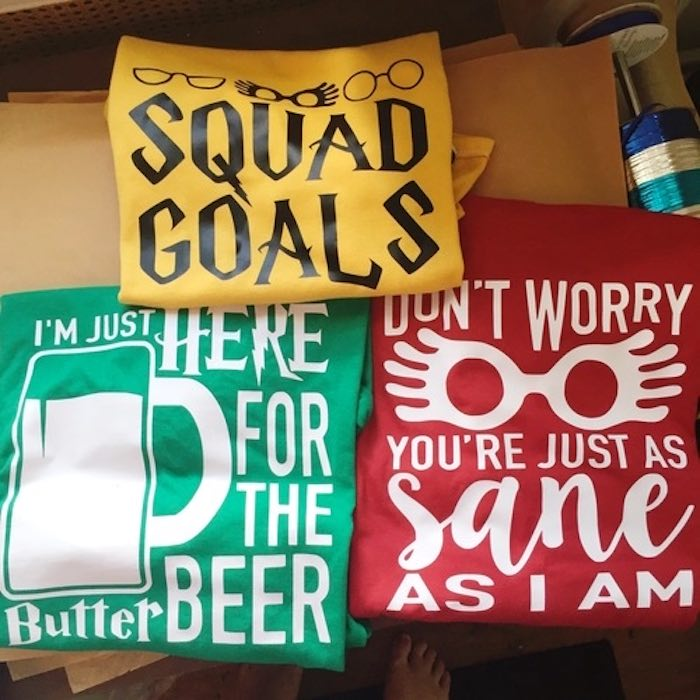 Custom shirts from a Harry Potter Birthday Party on Kara's Party Ideas | KarasPartyIdeas.com (38)
