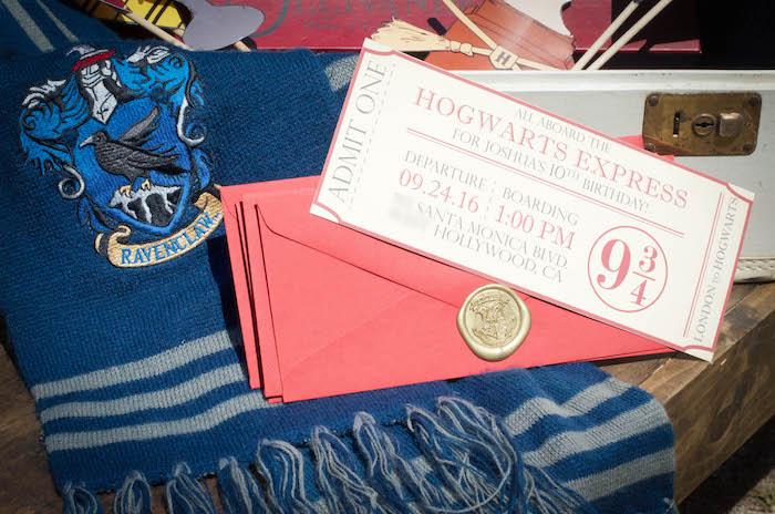 Hogwarts Express + Harry Potter Party Invitation from a Harry Potter Birthday Party on Kara's Party Ideas | KarasPartyIdeas.com (27)