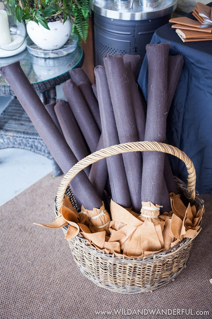 Quidditch brooms from a Harry Potter Birthday Party on Kara's Party Ideas | KarasPartyIdeas.com (32)