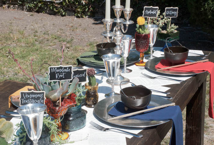 Guest tablescape from a Harry Potter Birthday Party on Kara's Party Ideas   KarasPartyIdeas.com (23)