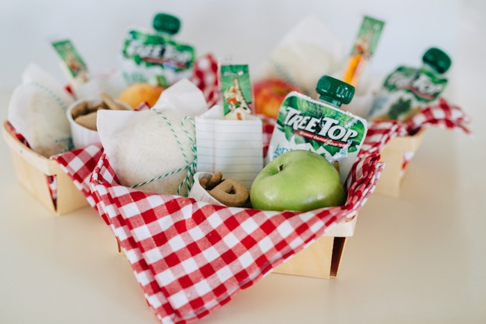 Wooden berry basket lunch crate from a How to Host a Back to School Party on Kara's Party Ideas | KarasPartyIdeas.com (51)