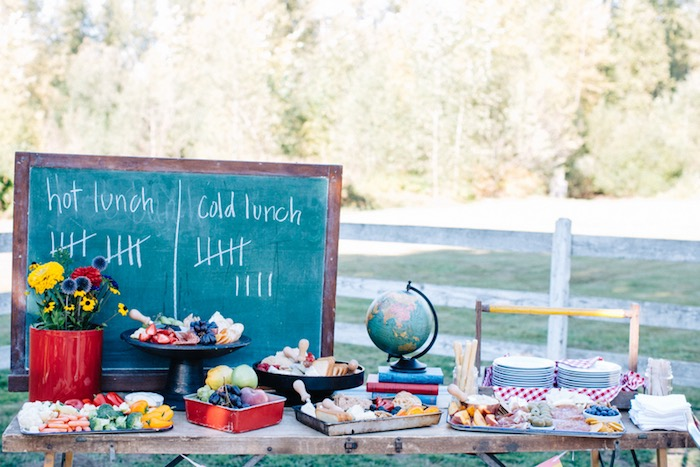 Lunch + snack table from a How to Host a Back to School Party on Kara's Party Ideas | KarasPartyIdeas.com (29)