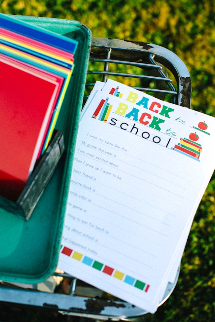Back to School stationery from a How to Host a Back to School Party on Kara's Party Ideas | KarasPartyIdeas.com (25)