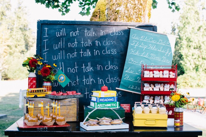 """""""I will not"""" dessert table from a How to Host a Back to School Party on Kara's Party Ideas 