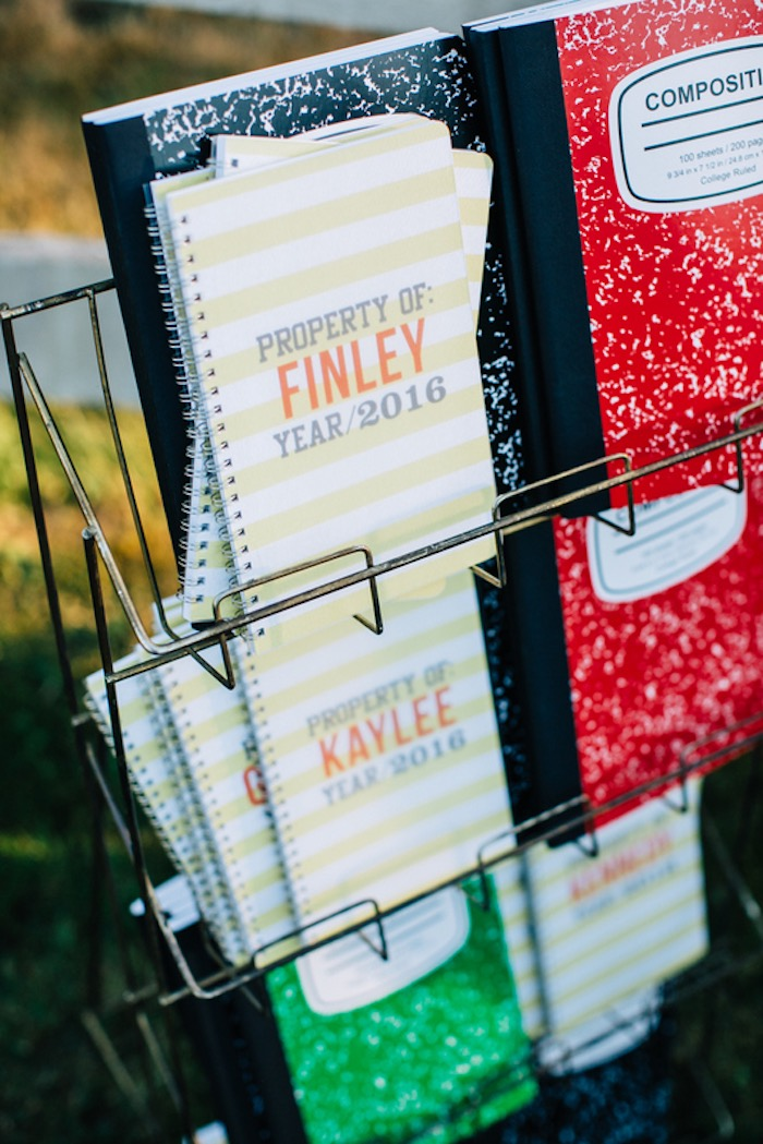 Custom school notebooks from a How to Host a Back to School Party on Kara's Party Ideas | KarasPartyIdeas.com (19)