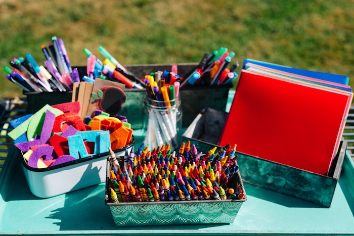 School and craft supplies from a How to Host a Back to School Party on Kara's Party Ideas | KarasPartyIdeas.com (61)