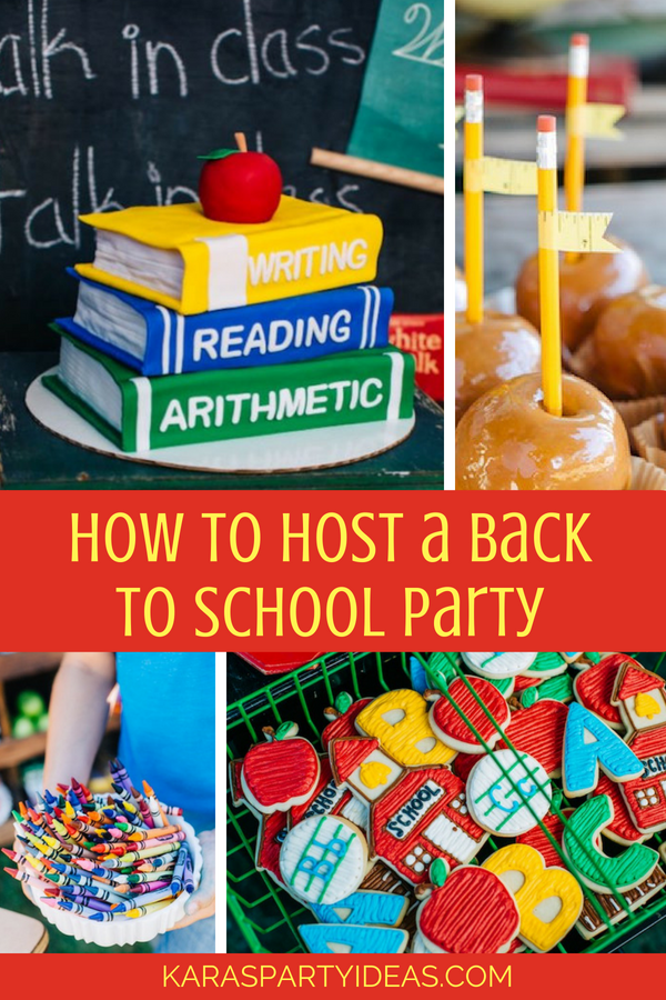 Karas Party Ideas How To Host A Back To School Party Karas Party