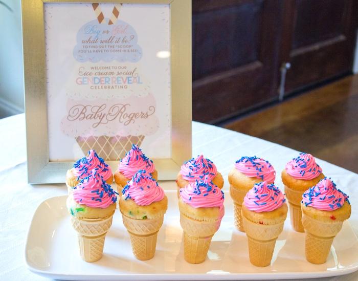Kara S Party Ideas Ice Cream Social Gender Reveal Party