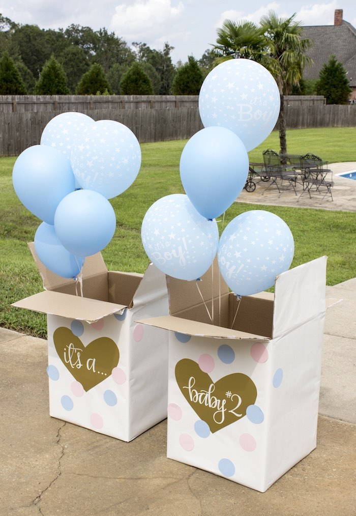 Gender Reveal from an Ice Cream Social Gender Reveal Party on Kara's Party Ideas | KarasPartyIdeas.com (5)