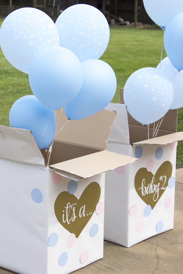 Gender Reveal from an Ice Cream Social Gender Reveal Party on Kara's Party Ideas | KarasPartyIdeas.com (4)