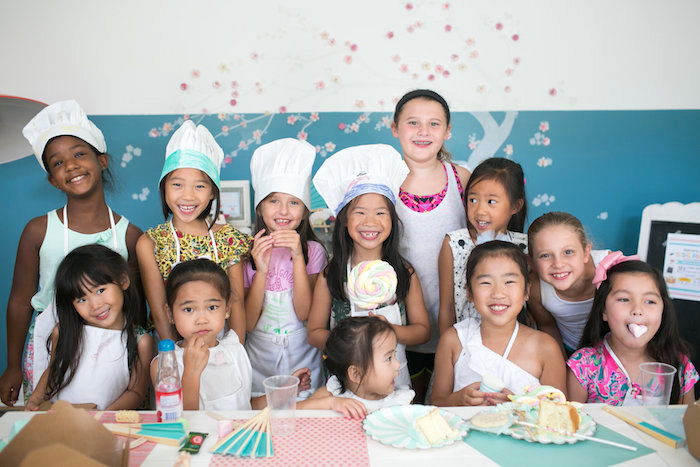 Little chefs from a Japanese Sushi Chef Birthday Party on Kara's Party Ideas | KarasPartyIdeas.com (4)