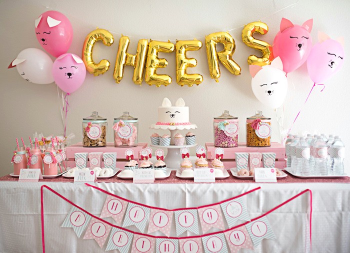 Kitty Cat Birthday Party on Kara's Party Ideas | KarasPartyIdeas.com (33)