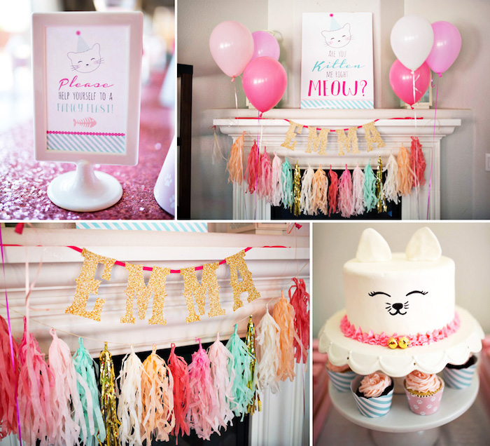 Kitty Cat Birthday Party on Kara's Party Ideas | KarasPartyIdeas.com (32)